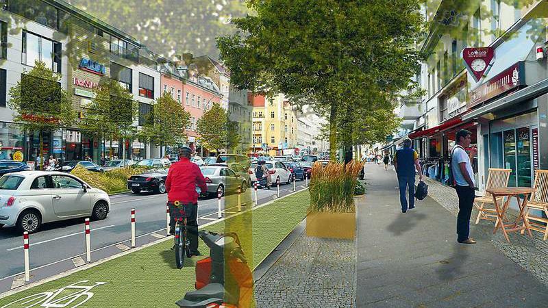 Kritik an geplanten Radwegen auf dem Tempelhofer Damm
