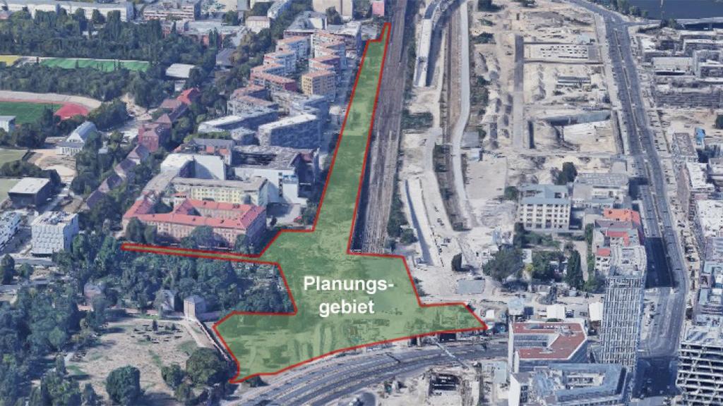 Berlin-Moabit: Grünfläche an der Europacity geplant