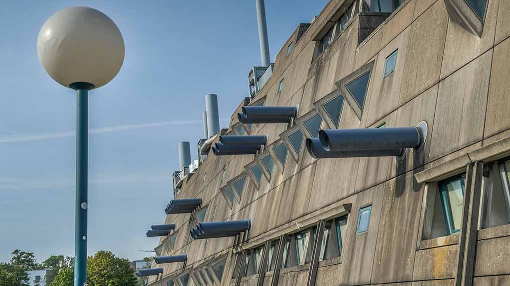 Mäusebunker Tierversuchslabor, FU-Berlin, Hindenburgdamm, Lichterfelde, Berlin, Deutschland *** Mäusebunker Tierversuch