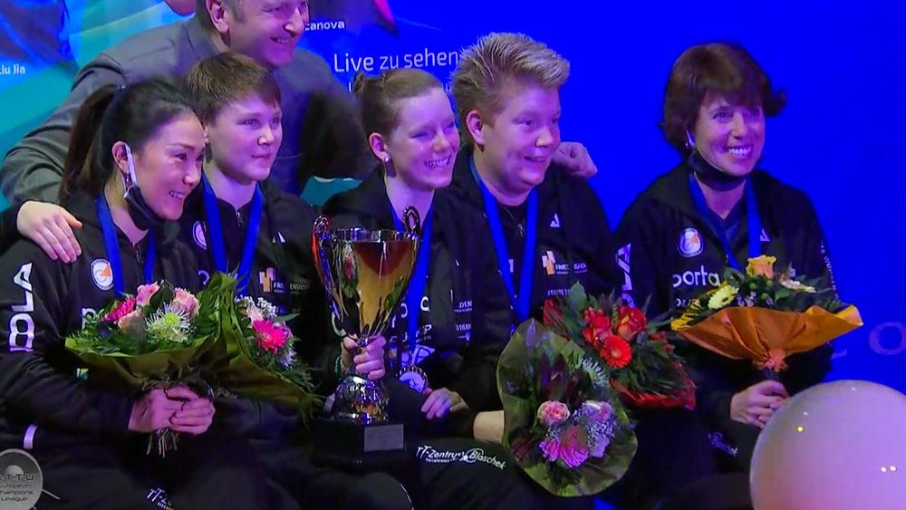 Tischtennis: ttc Berlin eastside aus Lichtenberg gewinnt die Champions League