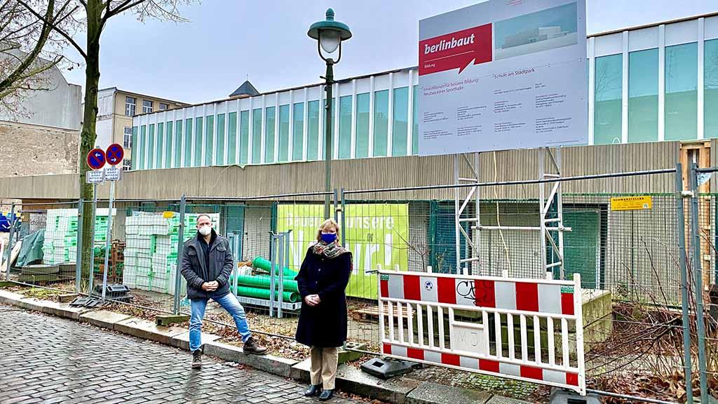Berlin-Steglitz: Die neue Sporthalle nimmt Form an