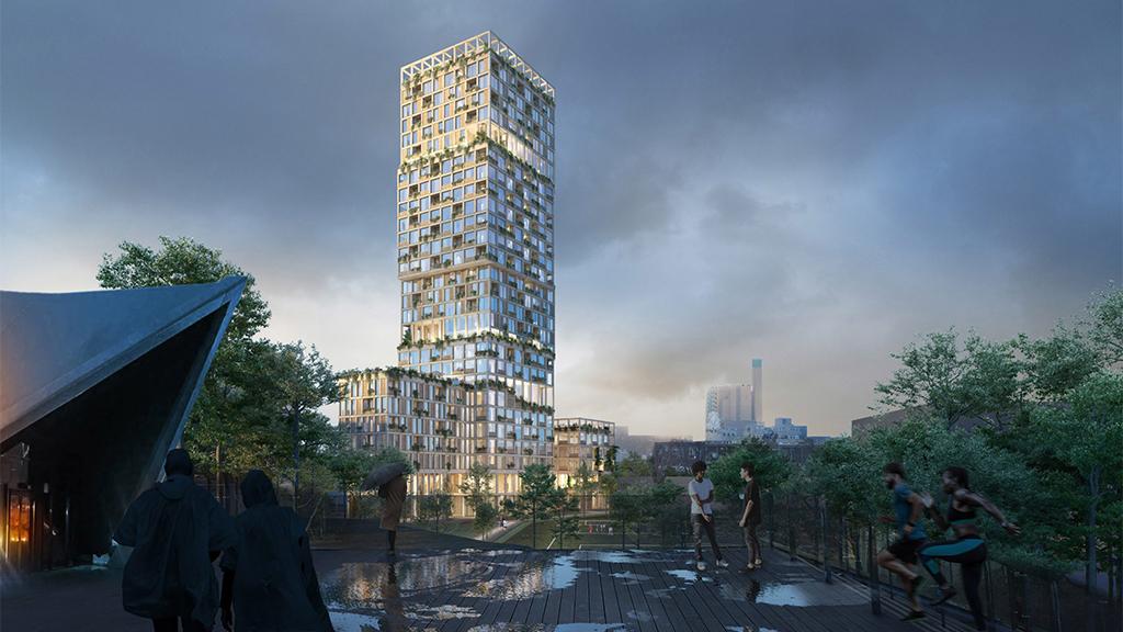 Kreuzberg bekommt modernes Hochhaus aus Holz