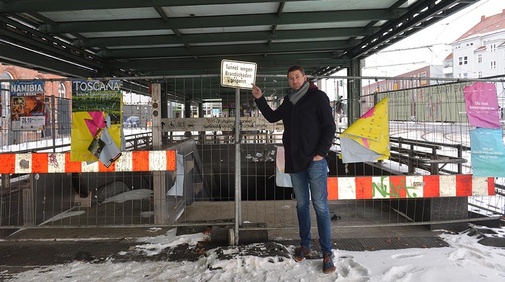 Berlin-Schöneweide: Senat repariert nutzlosen Fußgängertunnel