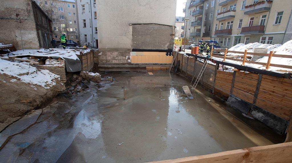 Köpenicker Baugrube ist verfüllt – Einsturzgefahr ist abgewandt