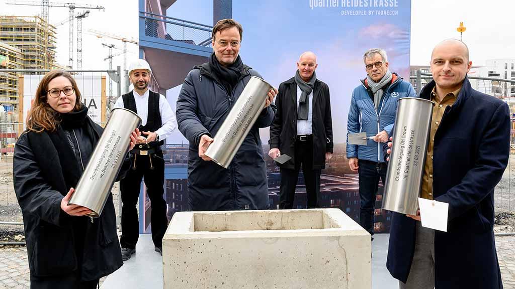 Berliner Europacity: Grundstein für neue Gebäude an der Heidestraße gelegt