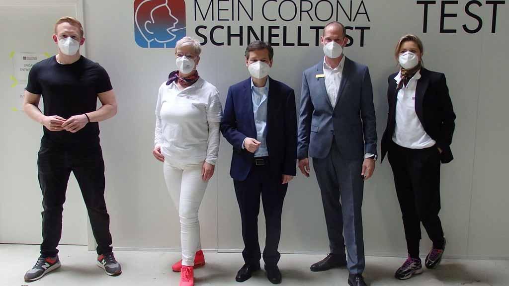 Berliner Norden: Neues Corona-Testzentrum in Tegel eröffnet