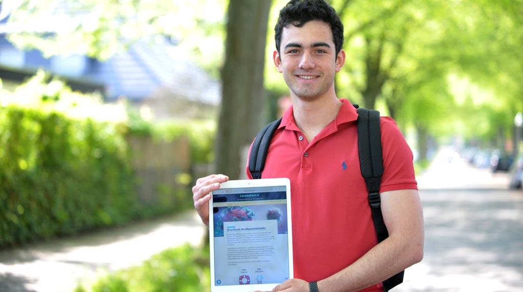 Ein Berliner Schüler vereint Tausende Corona-Helfer im Netz