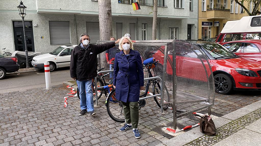 Berlin-Charlottenburg: Abschließbare Fahrradgaragen eröffnet