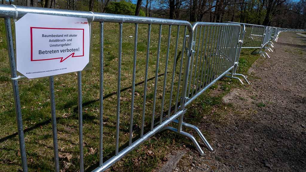 Steglitz-Zehlendorf: Trockenheit sorgt für Gefahr im Landschaftspark Klein-Glienicke