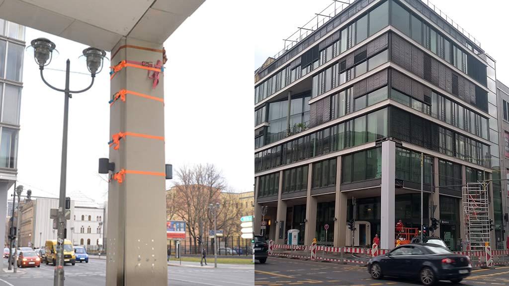 Der Gruselpfeiler an der Leipziger Straße ist endlich repariert.
