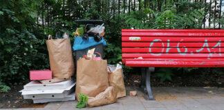 Parkreinigung ist Erfolgsgeschichte: Müll und Verpackungen in einem Berliner Park